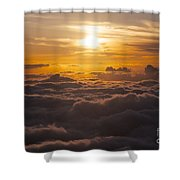 Setting Sun Above The Clouds Shower Curtain