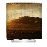Setting Sun Abstract Shower Curtain