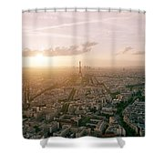 Setting Sun Over Paris Shower Curtain