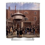 Settling Day At Tattersalls, Print Made Shower Curtain