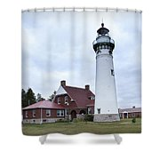 Seul Choix Point Lighthouse Shower Curtain