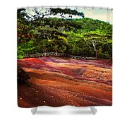 Seven Colored Earth In Chamarel 3. Mauritius Shower Curtain