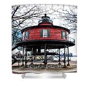 Seven Foot Knoll Lighthouse - Baltimore Shower Curtain