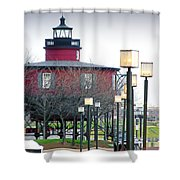 Seven Foot Knoll Lighthouse Shower Curtain