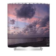 Seven Mile Beach Sunset Shower Curtain