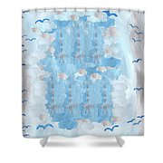 Seven Of Swords Shower Curtain