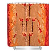 Seven Of Wands Shower Curtain
