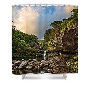 Seven Sacred Paradise Shower Curtain