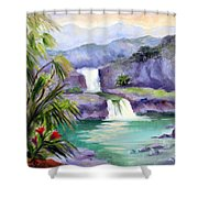 Seven Sacred Pools Shower Curtain