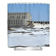 Seven Sisters Falls Damn Shower Curtain