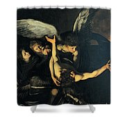 Seven Works Of Mercy Shower Curtain by Caravaggio
