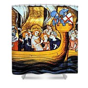 Seventh Crusade 13th Century Shower Curtain