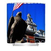 Sevierville Tenn Courthouse Eagleagle Shower Curtain