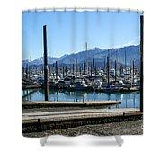 Seward Alaska Bay Shower Curtain
