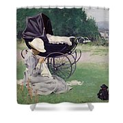 Sewing In The Sun, 1913 Shower Curtain
