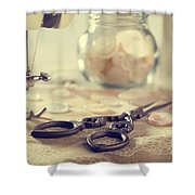 Sewing Items Shower Curtain by Amanda Elwell