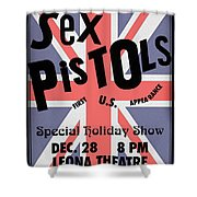 Sex Pistols First Us Appearance Shower Curtain