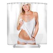 Sexy Blonde Shower Curtain