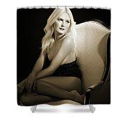 Sexy Fine Art Blond Girl In Chair 1285.01 Shower Curtain