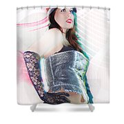 Sexy Girl On Moving Shower Curtain