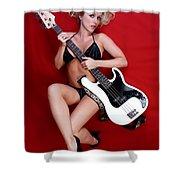 Sexy Guitar Shower Curtain
