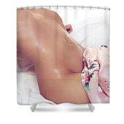 Sexy Wet Woman Body Closeup Shower Curtain