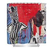 Sexy Zebra Shower Curtain