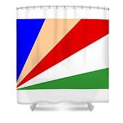 Seychelles Flag Shower Curtain