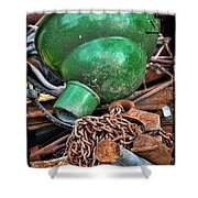 Shade And Chain Shower Curtain