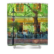Shaded Cafe Shower Curtain by Jeff Kolker