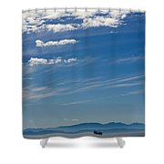 Blue Skies And Bluer Seas Shower Curtain