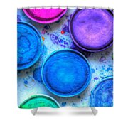 Shades Of Blue Watercolor Shower Curtain