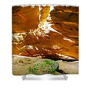 Shades Of Light Shadow And Texture On Cliff Wall Shower Curtain