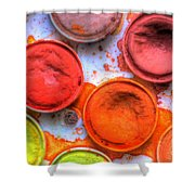 Shades Of Orange Watercolor Shower Curtain by Heidi Smith
