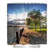Shadow And Light V1 Shower Curtain