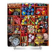 Shadow Box Collection Shower Curtain