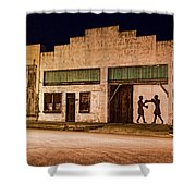 Shadow Boxing Shower Curtain by Gary Holmes