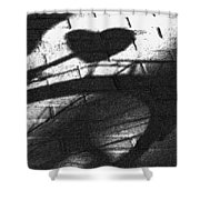 Shadow Heart Advanced Pencil Shower Curtain