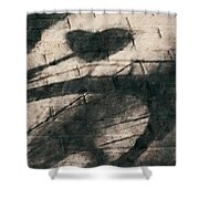 Shadow Heart Chalk 1 Hp Shower Curtain