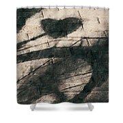 Shadow Heart Chalk 1 Hp Shower Curtain