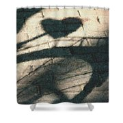 Shadow Heart Pastel Chalk 2 Shower Curtain