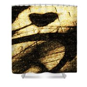 Shadow Heart Tinted Copper Shower Curtain