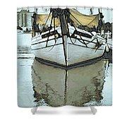Shadow Of Boat Shower Curtain