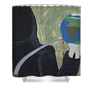 Shadow Of Fear Shower Curtain
