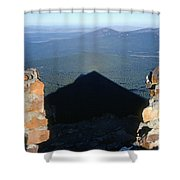 M-05715-shadow Of Mt. Mcloughlin Shower Curtain