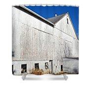 Shadow On White Barn Shower Curtain
