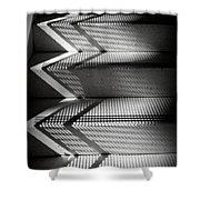 Shadow Play - Black And White Shower Curtain