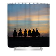 Shadow Riders Shower Curtain