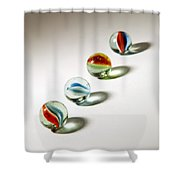 Shadowed Marbles Shower Curtain