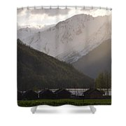 Shadowing The Peaks Shower Curtain
